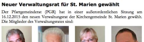 Neuer Verwaltungsrat für St. Marien gewählt